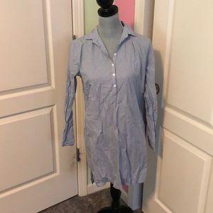 ATM Button Down Shirt Dress